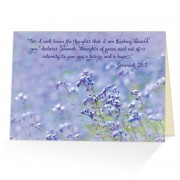 Thoughts of Peace - Jeremiah 29:11 - (Encouraging Greeting Card)