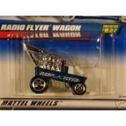 Mattel Hot Wheels 1999 1:64 Scale Blue Radio Flyer Wagon Die Cast Car Collector #837