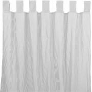 sugarapple Vorhang mit Schlaufen Streifen grau (120.01.003)