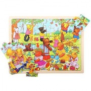 Bigjigs Toys BJ746 Tray Puzzle Teddys Picnic