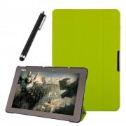 Funda Protector de Piel Cuero con Soporte Funda Protector Carcasa Para Asus Transformer Book T100 Chi Tablet 10.1 inch Verde