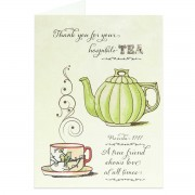 Thank you for your hospitali-TEA! - Proverbs 17:17 - (Biblical Greeting Card)