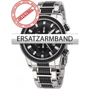 Curea de ceas Perigaum Edelstahl P-1312 schwarz-silber