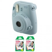 Fujifilm FU64-MINI8BLK40 INSTAX MINI 8 Camera and Film Kit with 40 Exposures (Blue)