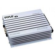 Pyle PLMRA400 Amplificador impermeable de 4 canales, 400 vatios, plateado