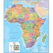 Wandkaart ML Afrika Politiek, 100 x 120 cm | Maps International