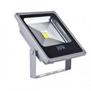 Proiector LED 30W Metalic Slim Alb Rece 220V