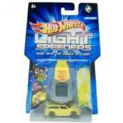 2011 Hot Wheels Light Speeders - Audacious (Yellow) with Light and Stencils
