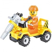 Magideal City Construction Team Minifigure Drill Truck Building Block Educational Toy