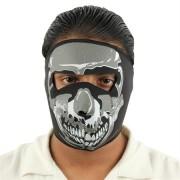 Masque en néoprène, design Squelette - biker, moto, airsoft