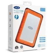 LaCie Rugged USB 3.0 Thunderbolt 1 TB External Hard Disk Drive(Silver, Orange)
