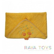 Детска хавлия за баня с качулка жълта Babyono 170 02