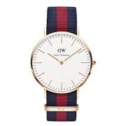 Daniel Wellington 0101DW - Reloj analógico de cuarzo para hombre con correa de nylon, color multicolor