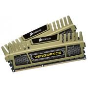 Corsair CMZ16GX3M2A1600C9G Vengeance Memoria per Desktop a Elevate Prestazioni da 16 GB (2x8 GB), DDR3, 1600 MHz, CL9, Oro