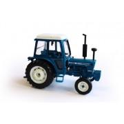 Britains - Tractor Ford 7600, color azul, blanco y negro (TOMY 42795)