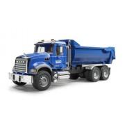 Bruder - 2823 - Véhicule Miniature - Camion Benne Mack Granite Halfpipe - Bleu