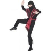 Smiffys - Costume da Ninja, colore: Rosso/Nero, Bambino, taglia: L