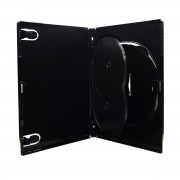 Box para DVD Amaray Triplo Preto com 100 unidades