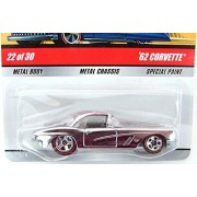 1962 Corvette Hot Wheels Classics Series #5 Silver Chrome '62 Chevy Corvette 1:64 Scale Collectible Die Cast Metal Toy Car Model $22 of 30 by Hot Wheels