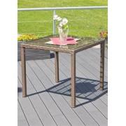 G21 Royal Small rattan asztal, merbau