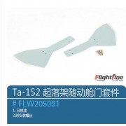 Generic landing gear door set for wing Flight Line Ta-152 rc plane model propeller plane warbird