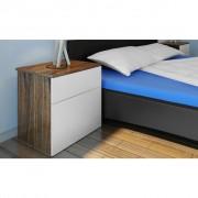 vidaXL Nočný stolík s jednou zásuvkou, hnedý/biely