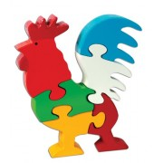 Skillofun Wooden Take Apart Puzzle Rooster, Multi Color