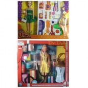 combo of Miss World Doll With Make-up Set Dr.Dolly Doll First Aid Kit