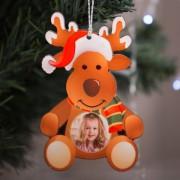 Fényképes karácsonyfadísz, Rénszarvas