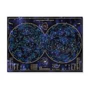 Poster planisferio celeste que brilla en la oscuridad