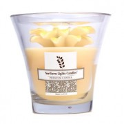 Floral Vase Premium Candle - Yellow Daisy 5 inch Floral Висококачествена Свещ в Чаша - Yellow Big Daisy