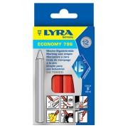 Креда маслена, червена - ECONOMY 796 (11мм x 110мм), 12 бр./оп., 4860017, LYRA