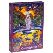 Creative Splendor 1000 Piece Puzzle - Jesus and the Animals by American Puzzles