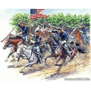 Master Box Models 8th Pennsylvania Cavalry Regiment Model Building Kit - U.S. Civil War Series 3 Horses and 3 Riders Scale 1/35