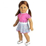 Barwa Outdoor Casual Outfit Wear Dress Clothes Fits American Girl Doll My Life Doll Our Generation and other 18 inch D