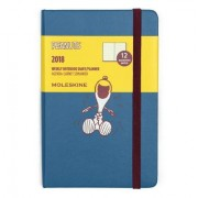 Moleskine Limited Edition Peanuts, 12 Month Weekly Planner, Pocket, Sapphire Blue (3.5 X 5.5)