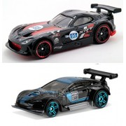 Hot Wheels Race Aston Martin Vantage GT3 Viper Speed Black World Race series 2015 Dodge SRT Viper GTS-R car Set...