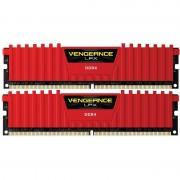 Memorie Corsair Vengeance LPX Red 16GB DDR4 2400 MHz CL16 Dual Channel Kit
