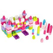 Mega Bloks - First Builders Girls Big Building Blocks 220 Piece Tub - Pink/Purple - Age 1-5 Years