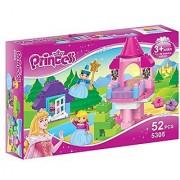Little Treasures Princess Pink Castle Building block 52 pieces Duplo compatible toy set for friends build and play fun