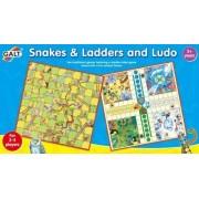 Galt - Jeu De L'échelle Et Des Petits Chevaux - Snakes Ladders And Ludo - Langue : Anglais Import Grande Bretagne
