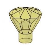 Lego Parts: Rock 1 x 1 Jewel 24 Facet (PACK of 2 - Transparent Yellow Jewels)