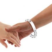 Sterling Silver Curb ID Bracelet By Taraash