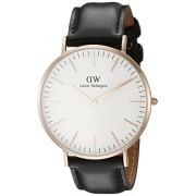Daniel Wellington - Reloj analógico para caballero de cuero blanco