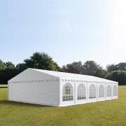 Profizelt24 Partyzelt 8x12m PVC weiß Gartenzelt, Festzelt, Pavillon