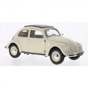 1950 Volkswagen Classic Old Beetle Split Window Cream 1/18 by Welly 18040