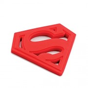 DC Comics Superman Red Silicone Hand Held Baby Teether