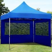 Profizelt24 Faltpavillon 3x3m blau Klappzelt, Partyzelt, Gartenzelt, Faltzelt