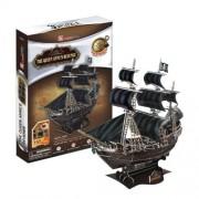 Cubic Fun 3D Jigsaw Puzzle Educational Model Monument Building Scale Model - Queen Anne's Revenge Ship by CubicFun