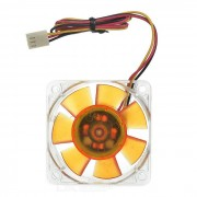AKASA AK-186-L2B 6cm Super Quiet Cooling Fan for PC Case - Amber + Transparent